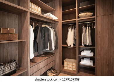 walk in closet of gentle man