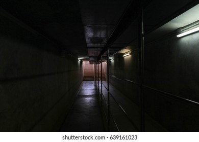 Walk in the dark tunnel