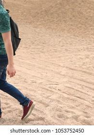 walk in the desert, a man walking in the desert,  Steps in the desert