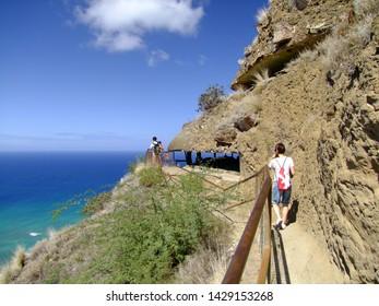 Walk to the Diamond Head Crater in Hawaii.