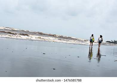 walk on the beach along with friends