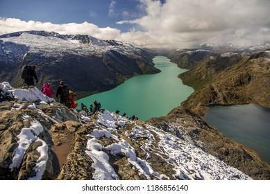 A walk over the Besseggen ridge, Jotunheimen NP, Norway
