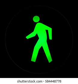 Walk sign for pedestrian at the trafic light,traffic light with green light and safe to move ( Pedestrian Traffic Lights )