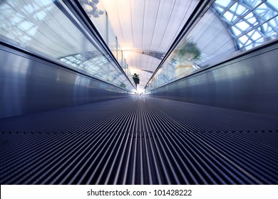 Walk way in the airport