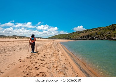 Walker at Praia Amoreira in Portugal