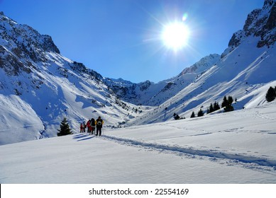 walkers in the French Pyrenees (Bareges)
