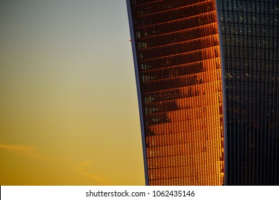 Walkie Talkie building London in sunset