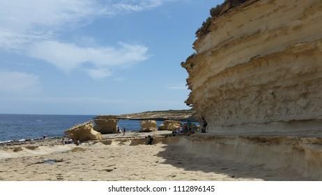 Walkin trip on Maltese beach
