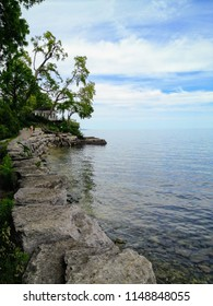 Walking along Lake Ontario in beautiful Oakville, Ontario, Canada