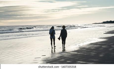 Walking around the beach at sunset on Seabrook Island, SC
