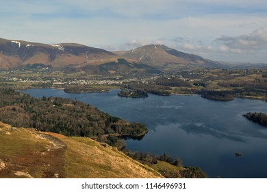 Walking around Keswick, in lake District, Cumbria