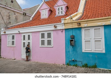 Walking around the old city of Otrobanda - a World Heritage site on the Caribbean island of Curacao