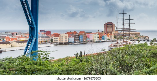 Walking around Otrobanda City Curacao Views a small Caribbean Island in the dutch Antilles