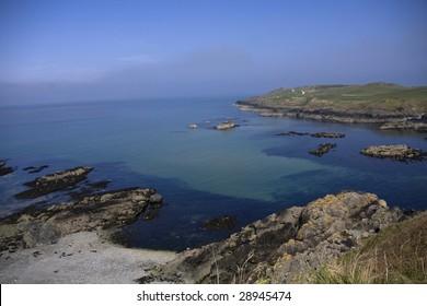 Walking around Porth Dinllaen on the Llyn Peninsula North Wales