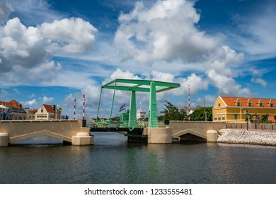 Walking around Punda the city centre of the Caribbean island of Curacao