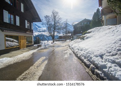 Walking around (Mürren) village In Switzerland ,this little village located up in the Swiss Alps in the Jungfrau ridge at 1400 meters high. this place offers a spectacular view of the mountains.