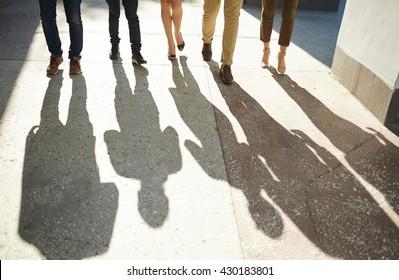 Walking business team