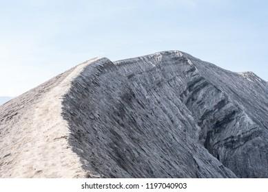 Walking the edge of mount bromo vulcano