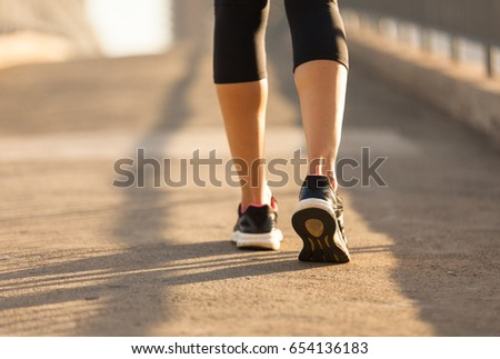 walking exercise closeup womans feet walking stock photo edit now