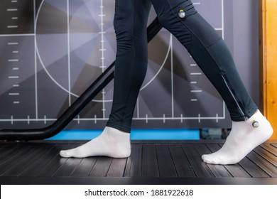 Walking or gait anthropometric analysis on a treadmill