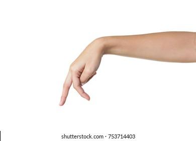 walking hand  isolated on white background
