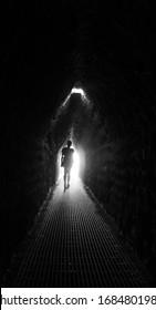 Walking inside the Pyramid's secret tunnels