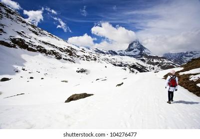 Walking to the Matterhorn