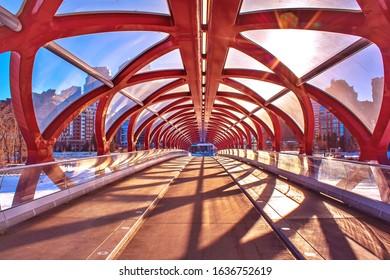 Walking on the Peace bridge