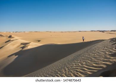 walking on the sea sand siwa Egypt