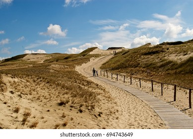 Walking path in Dead Dunes in Neringa, Lithuania