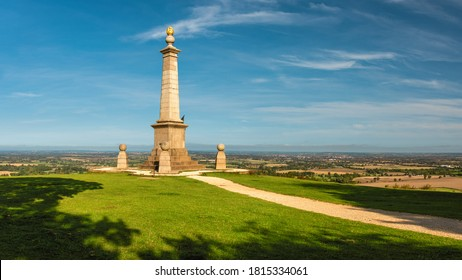 A walking path to the monument on the top of Coombe Hill, Wendover, UK