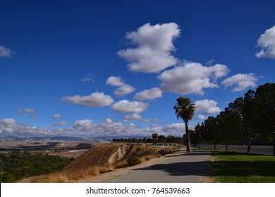 Walking path at Panorama Vista Preserve, Bakersfield, CA.