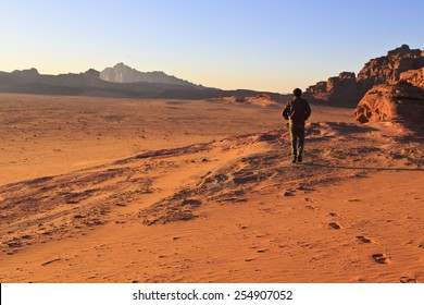 A walking path in Wadi Rum