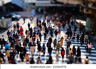 walking people on the street
