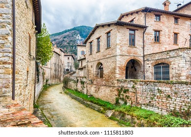 Walking in the picturesque and ancient streets of Gubbio, one of the most beautiful medieval towns in central Italy