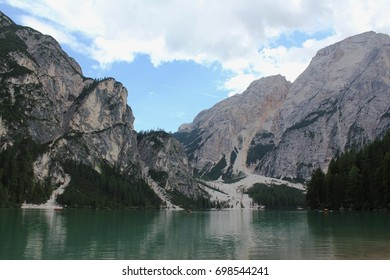 Walking round Lago di Braies, Dolomites National Park