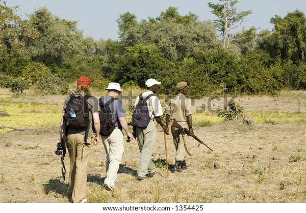 Walking safari in South Luangwa National Park, Zambia
