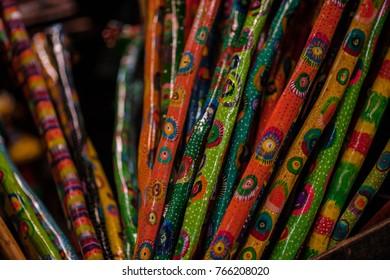 Walking stick ,made by Maya people in Antigua, Guatemala.