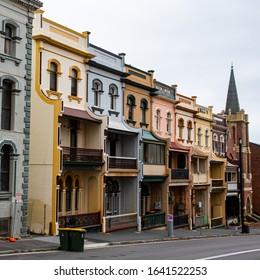 Walking through old buildings in Newcastle NSW, Australia