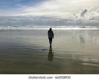 Walking Towards the Sea