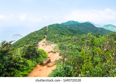Walking trail on a hill near Hong Kong