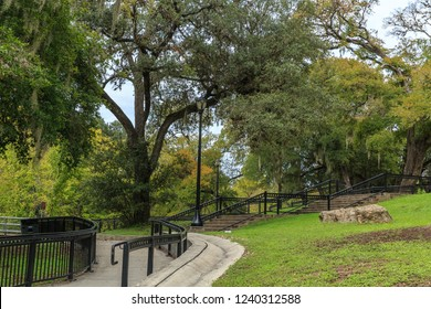 Walking trail in Prince Solms Park in New Braunfels, Texas