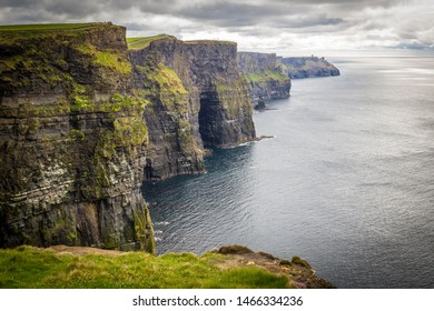 walking at the very spectacular Cliffs of Moher, Co Clare, Ireland