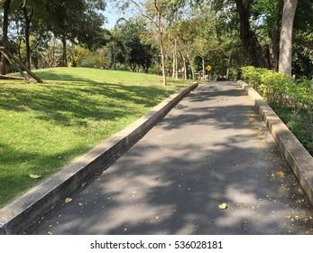 walking way in public park