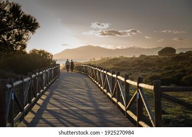 Walks along the beaches of Marbella in Malaga.