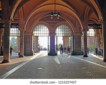Walkthrough under the Rijksmuseum in Amsterdam the Netherlands