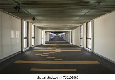walkway to airplane
