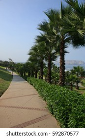 A walkway along the coast in Lima