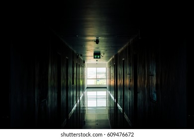 Walkway in Apartment with Low key tone