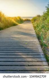 Walkway at the beach in langeoog, a german island